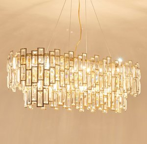 Lamba Kapalı Lihgitng Fikstür Lambası LLFA Askıya Asma Yemek Odası Lüks Altın Led Işık Kolye Luster Çelik Luminarias Otel