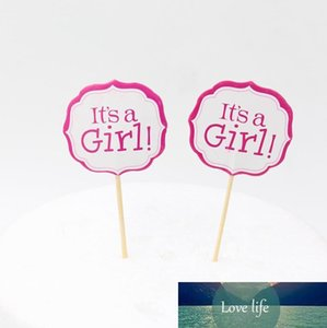 Girl And Blue Boy Party Cake toppers decoration for kids birthday party favors Baby Shower Decoration Supplies