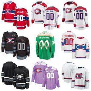 Personalizzato Montreal Canadiens Jordie Benn Jersey Hockey su ghiaccio Joel Armia Jesperi Kotkaniemi Jonathan Drouin Tomas Plekanec St Patricks Day
