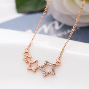 Интернет Горячие продажи Высокое качество 18 K розовое золото покрыло сплав звезда / сердца / ожерелье / Корона Подвеска Ключ для подарка