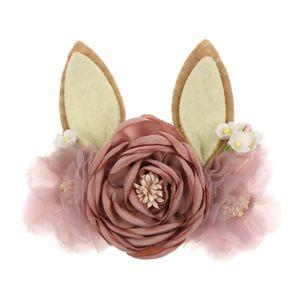 Christmas Ear Headbands Baby Girl Headband Floral Hairband Newborns Infant Baby Flower Crown Tiaras Hair Accessories