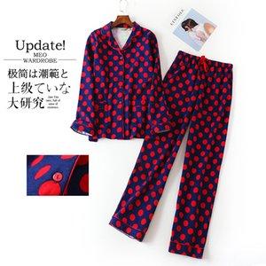 Plus size cute cartoon women pajama sets 100% brushed cotton Autumn long sleeve warm sleepwear pyjamas women winter pijama