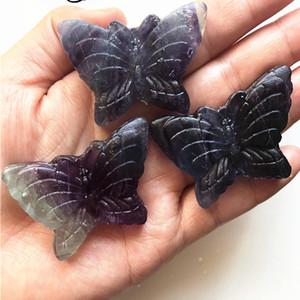 Doğal Gökkuşağı Flüorit kelebek Kristal Figurine Kuvars Hayvan Heykeli Mineraller Şifa Reiki Hediyeler Dekorasyon Oyma