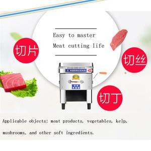 Vertikale Fleischschneidemaschine Klinge aus rostfreiem Stahl anpassbare Slicer Großfleischschneidemaschine Maschine