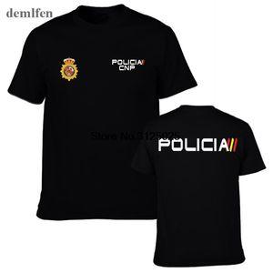 Espana Policía Nacional de España Espana Policía Policía Cnp UIP Upr Anti disturbios Swat Geo va fuerzas especiales Hombres camiseta camisetas frescas Top