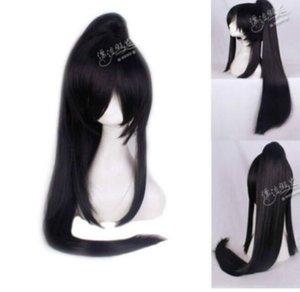 LIVRAISON GRATUITE + + + Kanda You Long Noir Perruque Anime Clip queue de cheval Cosplay Party Perruque Cheveux