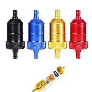 범용 알루미늄 합금 CNC MOTOCYCLE 연료 가솔린 필터 교체 예비 고품질 알루미늄 인라인 연료 필터.