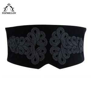 أحزمة مشد المرأة TOPMELON الدانتيل يصل حزام الإناث السيدات حزام التخسيس قابل للتعديل واسعة النطاق عالية الجودة المرأة الأزياء 2018