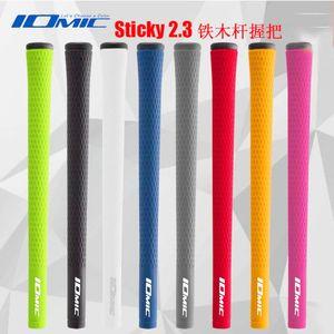 IOMIC STICKY 2.3 Golf sapları Yüksek kalite kauçuk Golf kulüpleri sapları seçim 8 renk 9 adet / grup ahşap kulpları Ücretsiz nakliye