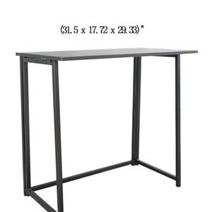 SONYİ Katlanır masa basit katlanabilir yazma ofis ev çalışma PC dizüstü bilgisayar oyun masası ile hiçbir klavye tepsisi hiçbir Çekmeceler masası siyah