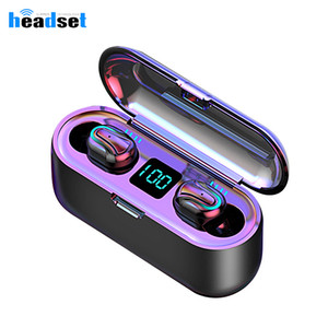 q32-1 Bluetooth Earphones TWS 5.0 Waterproof HD Stereo Wireless earbuds Noise Cancelling Gaming LED Power display Headset