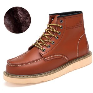 Large Size Men's Autumn and Winter Men's Boots Tooling High To Help Leather Outdoor Desert Boots
