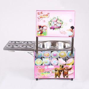 Makine Fantezi Çiçek Pamuk Şeker Makinası Şeker Floss Yapımı Makinası Elektrik Isıtma Ticari Pamuk Şeker