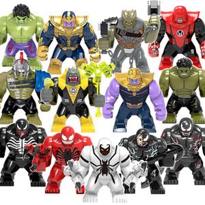 12 Stiller Avengers Süper kahraman Action Figure 6cm Yapı Taşları Marvel kahramanı Thanos Hulk Venom Thor blokları çocuklar sevdiği oyuncak