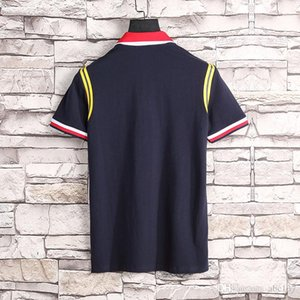 2020SS bee men's luxury polo shirt summer hip-hop V-neck brand embroidery classic style cotton men's polo shirt