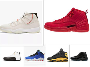 12 12s Gym Red Basketball Tinker 10s Platinum Tint 11s Cap and Gown Concord 13s Class 2002 Sneakers sportive uomo