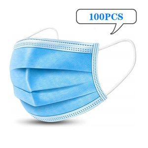 Adult 3 Layers Of Non Woven Fabric Masks Disposable Face Mask In Stock Dhl Freeship In 24 Hours gyP 291A 2VS5U
