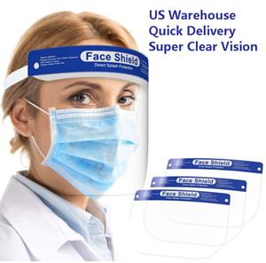 Épais Bouclier visage avec le visage transparent et élastique boucle Cover Visage Anti-poussière Anti-Cracher
