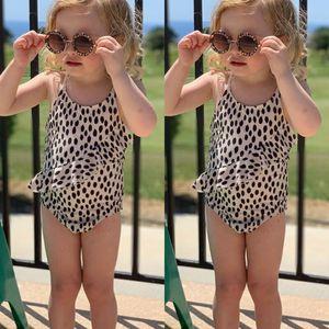 Toddlers Baby Kid Girl Leopard Print Swimwear Swimsuit Beach Swimming Costume