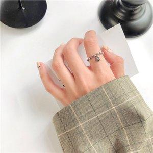 Ins Новая мода Готическая в форме сердца подвеска Мужчины кольца для женщин ювелирных изделий подарка дня рождения Romantic Wedding Engagement Drop Доставка
