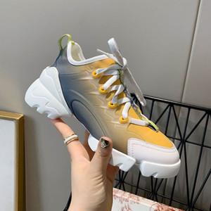 YENİ En iyi kalite, d-connect erkek ayakkabı tasarımcısı gerçek deri tasarımcısı Çok renkli Gradyan Teknik Kumaşın spor ayakkabılar kadınlar ünlü ayakkabı