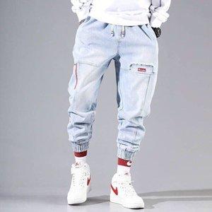 Streetwear Hip Hop Cargo Pants Men's jeans Cargo Pants Elastic Harun Joggers In Autumn and Winter