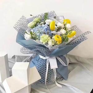 5 yard * 50 cm buket çiçek ambalaj kağıdı rulo DIY yapay çiçek dekorasyon ambalaj krep kağıt örgü el yapımı malzeme jakarlı dantel