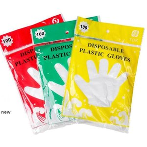 100pcs 1 bag PE Disposable Glove Oil Proof Waterproof Transparent Mittens For Home Clean Restaurant BBQ Kitchen Gloves KKA7745new