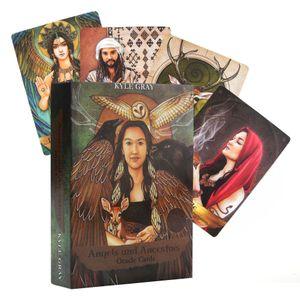Melekler ve Atalar Oracle Kartları A 55-Card Deck ve Fal Mühürlü Yeni Kartlar Oyun Masa Parti rehberlik Oracle Tarot Kartları