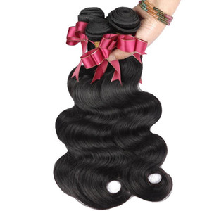 Granos de cabello humano 9A cuerpo brasileño onda humano remy virgen negro natural PARA BALCK MUJER FZP219