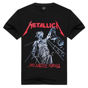 2020 Kaya Erkek İlkbahar / Yaz Moda Kısa Kollu METALLICA Amerikan Metal Nükleer Orkestrası Avrupa-Amerikan Kaya tişört