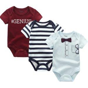 2019 3PCS / Lot-nascidos Bodysuits Meninas Vestuário 0-12M Baby Girl Clothes 100% algodão Unicorn bebé Roupa Roupas de bebe