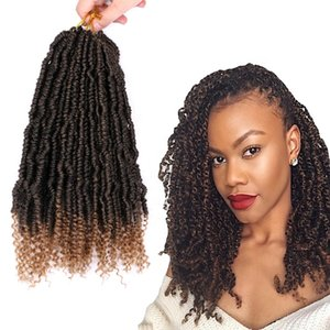 Dream Ice's Synthetic Spring Twist Crotchet Hair Extensions Ombre Crochet Braids Solft Kinky Curly Bomb Twist Braiding Hair