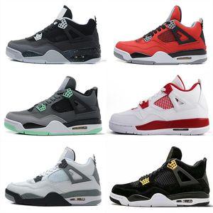 2020 Лучшие продажи разводили Cavs зеленый расти Tatoo rapotors 4s баскетбол обувь мужчины илу красный брызг горячего пунша белый цемент дизайнер обуви