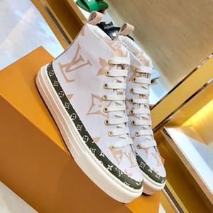 Yeni Bayanlar Klasik Deri Tasarımcı Ayakkabı Moda Rahat Stellar Sneaker Bayan Ünlü Lüks Nefes Yüksek Üst Baskı Çizmeler Sneakers