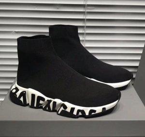 Дизайнерская обувь мужчины женщина скольжения на эластичной ткани скорость тренер носок Бегун человек обувь на открытом воздухе роскошные повседневная обувь плоские модные носки сапоги m5