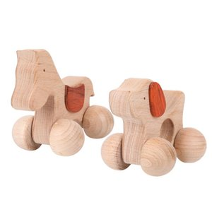1 pcs Wooden Baby Teethers Animals Dogs Horse Car Shape Cute Cartoon Classic Toys For Children Kids Teething Nursing Toys Gifts