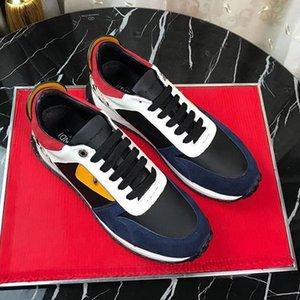 Марка мужчины причинно-следственной мода кроссовки высокое качество кожи, удобные и дышащие на шнуровке tranier спортивные кроссовки досуг без коробки Г1