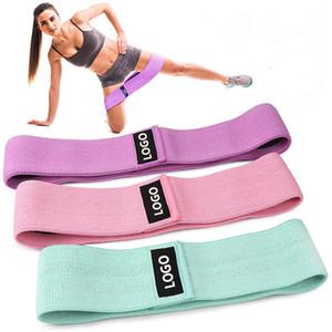 3pcs / set dames Résistance Tissu bandes Hip Glute exercice Expander élastique Fitness Yoga Training Sangle corde Tirer