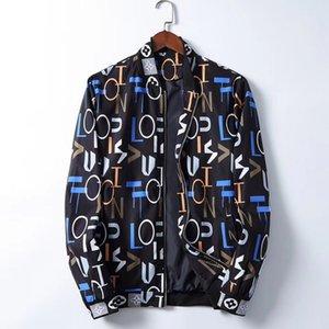 2020 Brand Designer Fashion Men's medusa Jacket Windbreaker Long Sleeve Men's Jacket Zipper Animal Letter Pattern Casual Men's M-3XL