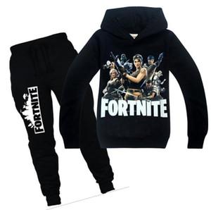 Spring Autumn Leisure Kids boys clothes set Children boy Long Sleeve Shirt Pants clothing set 2pcs for big boys