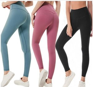 Free Shipping ePacket Solid Color Women yoga pants High Waist Sexy appeal Gym Wear Leggings Elastic Fitness Lady Overall Full Tights