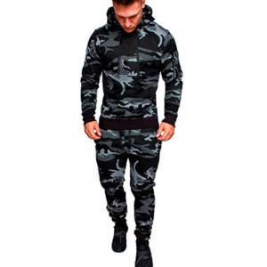 Camouflage Gym Running Suit Men Hooded Sportswear Men Autumn Winter Jogging Suit For Men 2 Pcs Sports Set Warm Jogging Tracksuit T200326