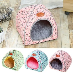 Pets House Igloo Padded Fleece Winter Warm Puppy Bed House Cave Dog Cat House Kennel Sleeping Bag Bed Mat Nest Winter Warm