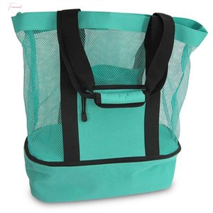 Women Men Mesh Transparent Bag Double Layer Heat Preservation Picnic Beach Big Bag Large Capacity Shopping Bags Organizer Hot