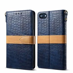 الموضة جلد التمساح محفظة رائع الرقبة حزام جلد الوجه حالة الجلد غطاء للآيفون 6 7 8Plus X XR إكسس ماكس