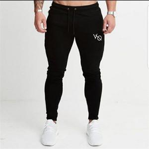 Yaz Spor Salonları Erkekler Pantolon Pantolon Erkek VO Günlük Pantolon Erkek Sweatpants 2018 Koşucular Spor Pantolon Erkek Siyah