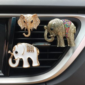 2018 de Moda de Nova Auto Peças Diamante Elephant Ar Condicionado respirável Perfume Clipe Air Freshener Car Decoração Perf