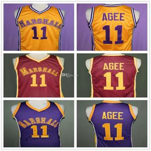 아서 에이지 # 11 후프 꿈 영화 존 마샬 수도권 고등학교 레트로 농구 유니폼 남성 스티치 사용자 정의 모든 번호 이름