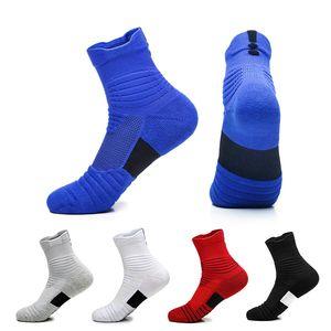 2 adet = 1 pair ABD Profesyonel Elit Basketbol Çorap Ayak Bileği Diz Atletik Spor Çorap Erkekler Moda Sıkıştırma Termal Kış Çorap toptan